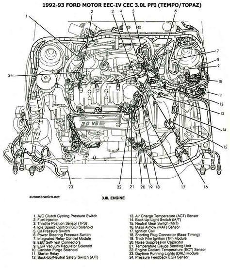 1993 Ford Tempo Engine Diagram