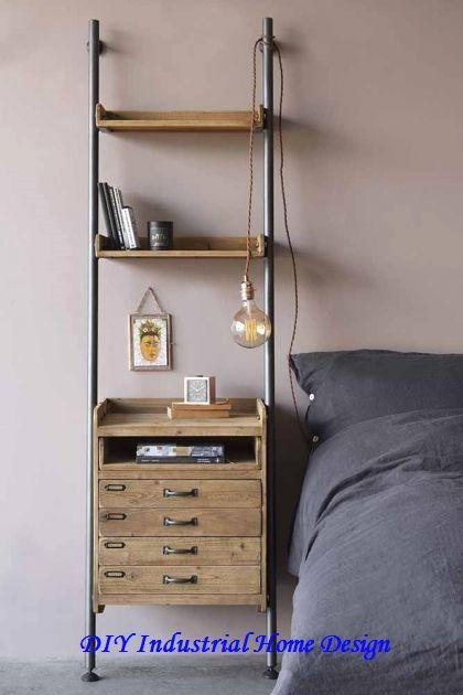 Stylish Industrial Home Decorations Diys In 2020 Industrial Style Bedroom Industrial Bedroom Furniture Industrial Bedroom Diy