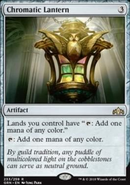 Magic the Gathering Guilds of Ravnica 1x CHROMATIC LANTERN NM MTG