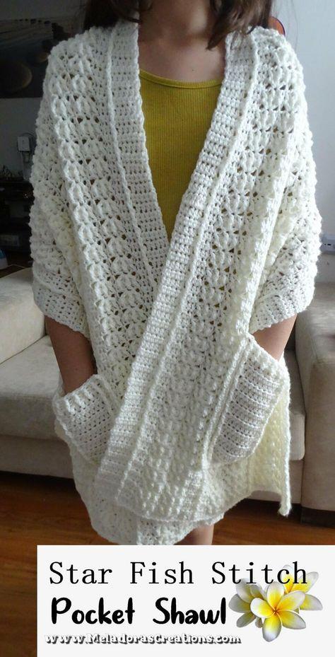 Poncho Au Crochet, Pull Crochet, Mode Crochet, Crochet Shawls And Wraps, Crochet Scarves, Crochet Clothes, Crochet Stitches, Knit Crochet, Crochet Patterns