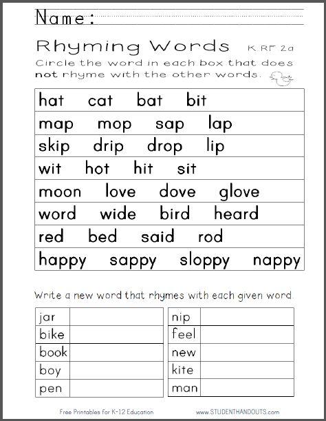 Worksheet List Of Rhyming Words For Grade 1 tania gandhi taniagandhi on pinterest