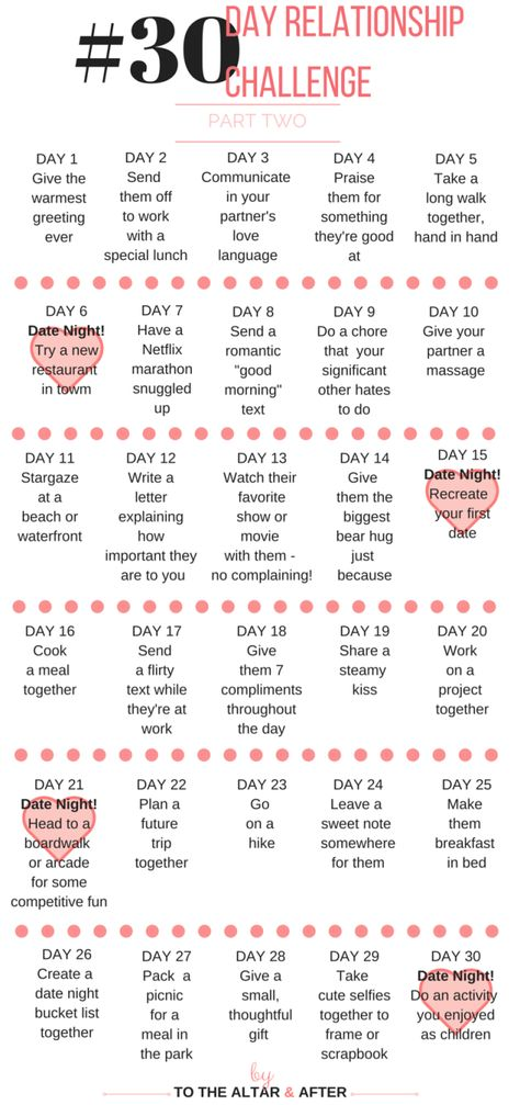 30 Day Relationship Challenge | To The Altar & Altar