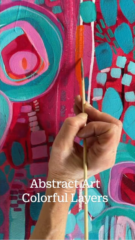 Abstract Art Colorful Layers
