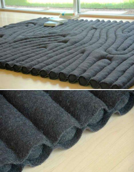 Fantastic Floor Coverings: 13 Unusual Rug Designs #rug #carpet #textiledesign #interior #style #design #felt