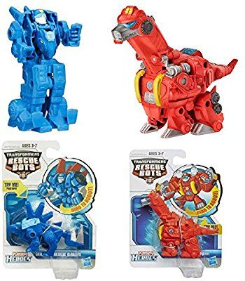 Amazon Com 2 Pack Set Playskool Transformers Rescue Bots