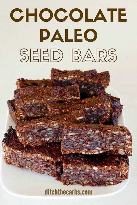 Chocolate paleo seed bars - absolutely perfect for school lunches