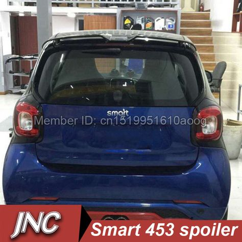 Stainless Rear Cover Hatch Protect Decoration Refit For Smart Fortwo 2015-2017