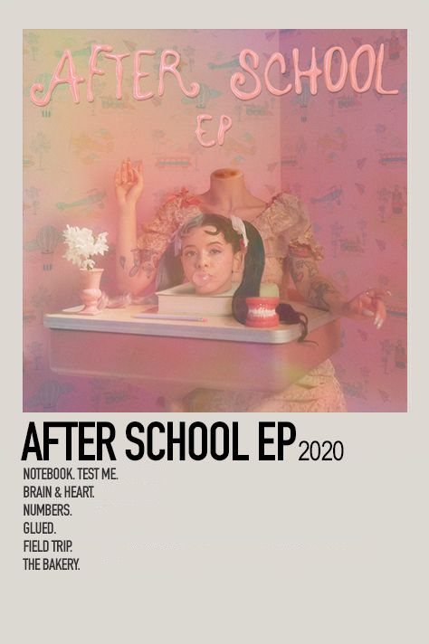After School Ep By Jessi Music Poster Ideas Music Poster Melanie Martinez