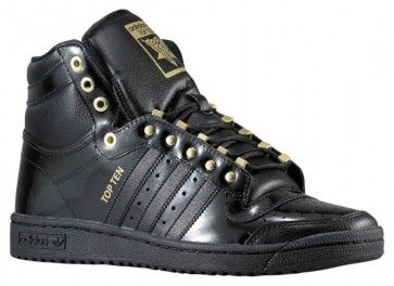 Adidas Top Ten Hi Mens Basketball Shoes BlackGold D74358