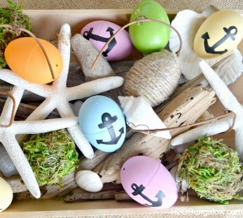Coastal decorating for Easter.