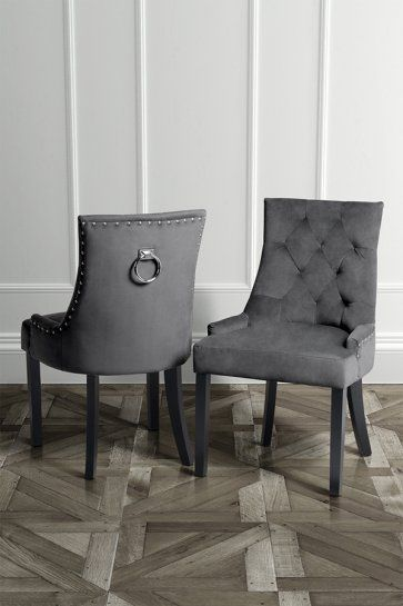 Torino Dining Chair with Back Ring Smoke | Esszimmerstuhl