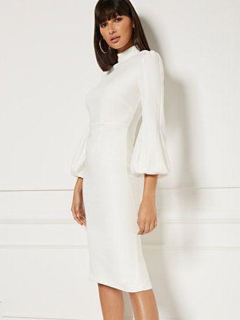 Misty Ivory Sheath Dress Eva Mendes Collection New York Company Eva Mendes Collection Sheath Dress Dresses