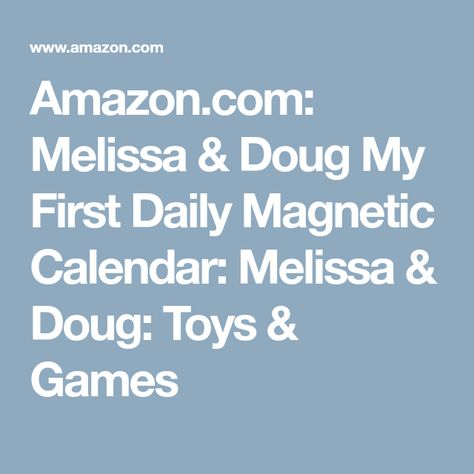 Melissa Doug My First Daily Magnetic Calendar Pictures Melissa