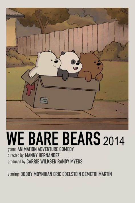 WE BARE BEARS POLAROID POSTER by me