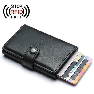Leather Card Wallet with RFID Protection