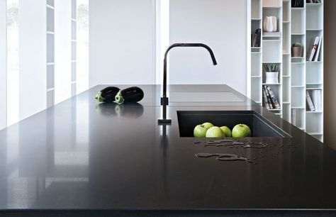 Piano #cucina in #Okite 1665 Bianco Assoluto #kitchen #worktops ...
