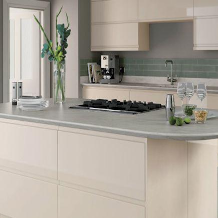 Kitchen Compare Com Homebase Hygena Arletta Cream Kitchen Handleless Kitchen Kitchen Design