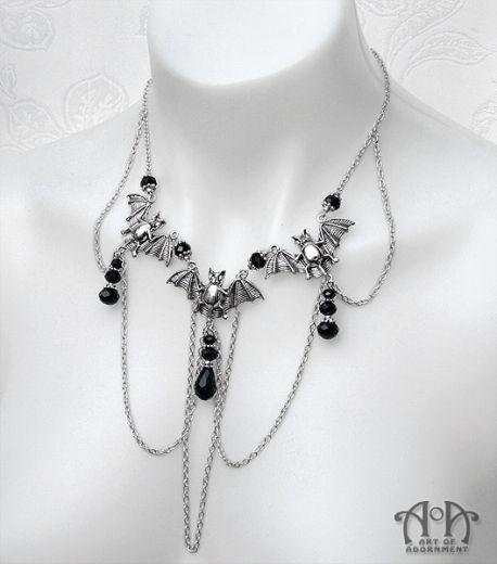 Black Velvet Choker Necklace Purple Glass Vampire Drop Victorian Gothic Medieval