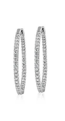 Vintage Handmade sterling silver diamond look white sapphire Gemstone drop hoop earrings