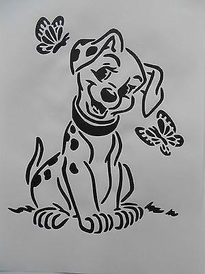 Schablone Dalmatiner für Textilg und v.m auf A4