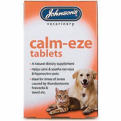 Johnsons Calm Eze 36 Tablets Calms Nervous Soothes Hyper Active Dog Cat Remedy Johnsondogsupply Cat Remedies Calming Cat Calming Tablets