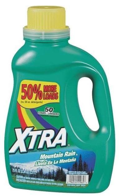 Xtra 41965 Mountain Rain Liquid Detergent 75 Oz Laundry Liquid
