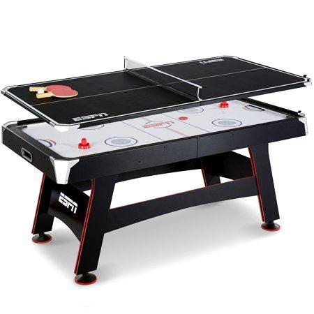 Espn 72 Air Hockey Table Table Tennis Top Accessories Included Black Red Walmart Com Air Hockey Table Table Tennis Tennis Tops