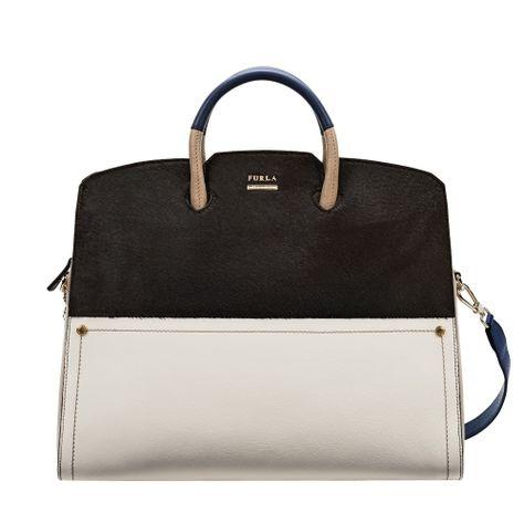 POLARIS Tote Coffee Handbags - Furla - Spain   Bolsos