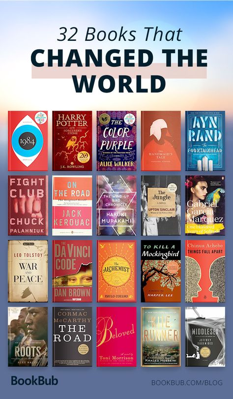 32 books that changed the world and are worth adding to your reading list.