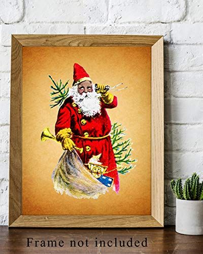 African American Christmas Wall Art Print Vintage 8x10 Unframed Photo Perfect Easy Gift Chic Home Decor B Christmas Wall Art Wall Art Prints Art Prints