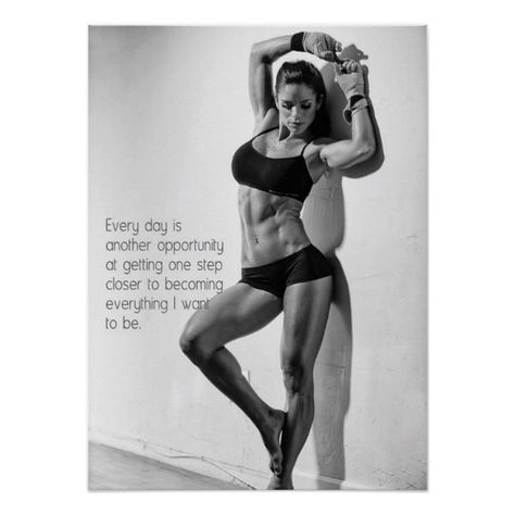 Shop Workout Motivational Poster created by physicalculture. Fit Girls Bodies, Fit Female Bodies, Girls Fit, Real Bodies, Chest Workout Women, Workout Plan For Women, Workout Plans, Fitness Motivation, Women's Fitness