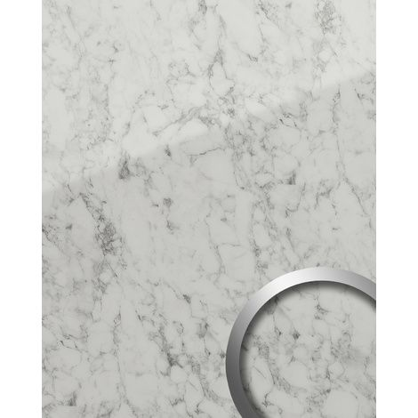 Wandpaneel Marmor Optik Wallface 19345 Marble White Dekorpaneel Glatt In Naturstein Optik Glanzend Selbstklebend Abriebfest Weiss Grau Weiss 2 6 M2 S Glass Coll Wandpaneele Steinwandpaneele Natursteine