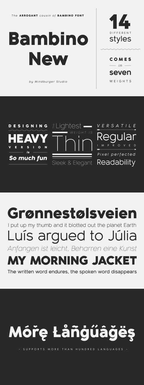 Bambino New Font Family - 14 fonts. Fonts. $159.00