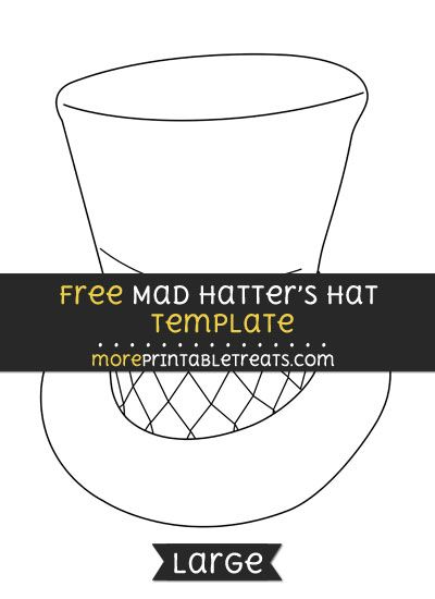 graphic about Mad Hatter Hat Template Printable titled Pin upon Designs and Templates Printables