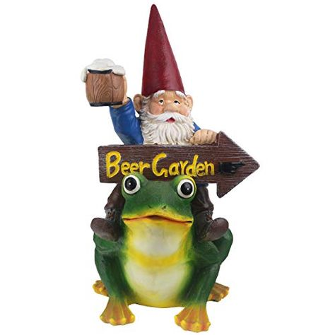 Funniest Gnome Garden Decor Sculpture CCOQUS Garden Gnome Figurine Labrador Dog Statue Light Brown Yellow