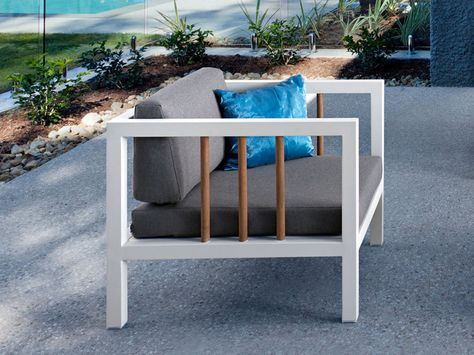 LUNA Lounge Gartensessel Applebee | Alu Weiß & Stoff Grau #garten ...