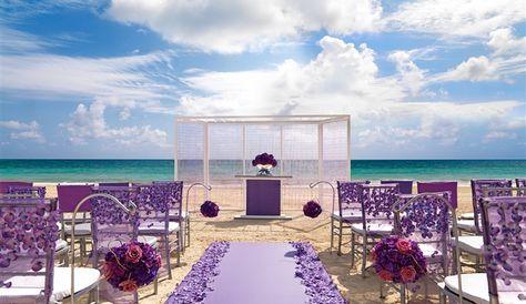 Destination Wedding Venues What A Pretty Purple Wedding Set Up