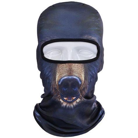 647ee4eee7a5e 3D Cat Dog Animal Balaclava Bicycle Bike Snowboard Party Skullies Beanie  Helmet Liner Winter Hat Warmer Full Face Mask Men