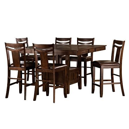 Marcey Counter Height Table Chairs 7 Piece Set Sam S Club