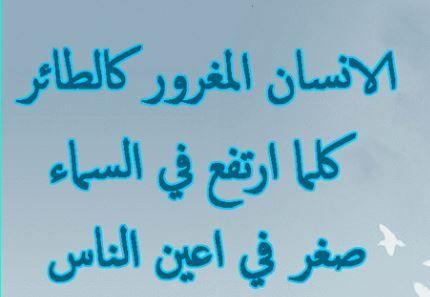 حكم عن الغرور امثال واقوال عن الغرور Math Arabic Calligraphy Math Equations