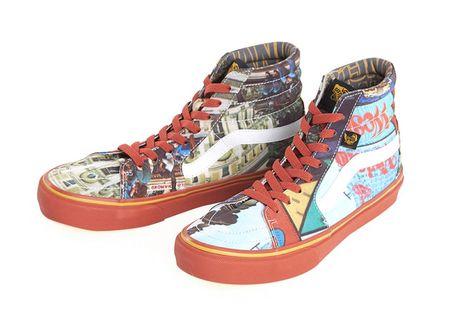 Cheap Sale Vans X Marvel Classic Slip On Women Shoes
