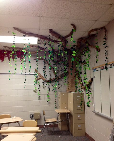 My daughter and I created this Tree of Knowledge in my senior English classroom.