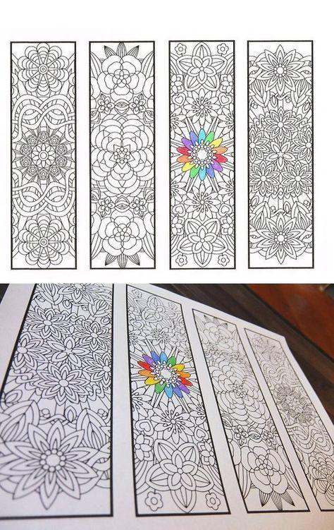 Grote Kleurplaten Voor Volwassenen.Kleuren Bookmarks Bloem Mandala S Pagina 1 Kleurplaten