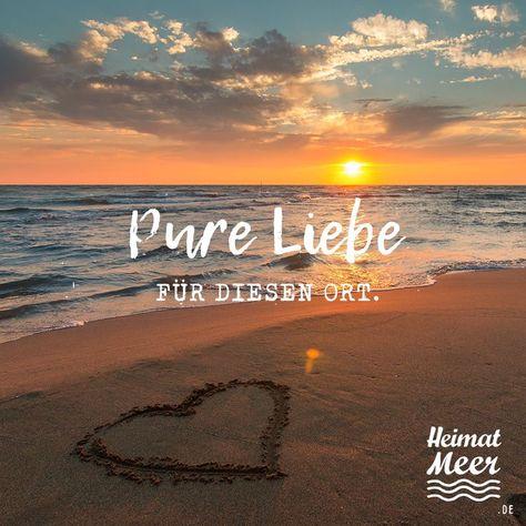 PURE LIEBE 😍🌅🌊 Heimatmeer® Strandklamotte ⚓ Für alle, die das Meer... #Alle #das #Die #für #Heimatmeer #Liebe #Meer