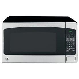 Ge 2 Cu Ft 1200 Watt Countertop Microwave Stainless Steel Lowes