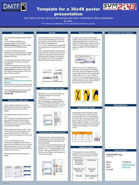 Template Design C 2008 Www Posterpresentations Com Template For A 36x48 Poster Presentati Poster Presentation Template Scientific Poster Design Research Poster