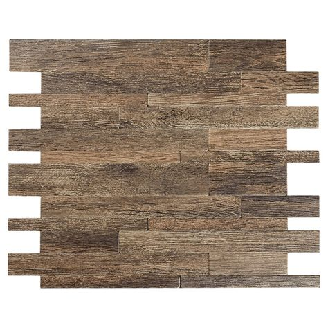 self-adhesive metal tile - murano w - wood color (with