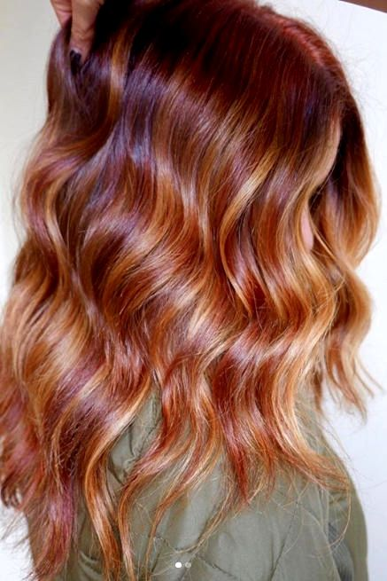 Trendy Hair Colors 2016 Trick In 2020 Red Balayage Hair Winter Hair Color Red Violet Hair