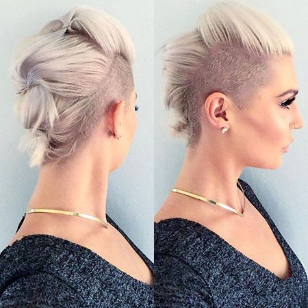 Medium Length Undercut Women Half Shaved Hair Undercut Hairstyles Women Undercut Hairstyles