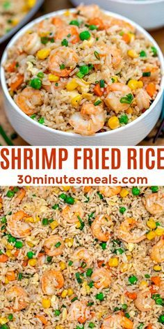 Shrimp And Rice Recipes, Easy Rice Recipes, Shrimp Dishes, Easy Delicious Recipes, Seafood Recipes, Dinner Recipes, Cooking Recipes, Stir Fried Rice Recipe, Seafood Appetizers
